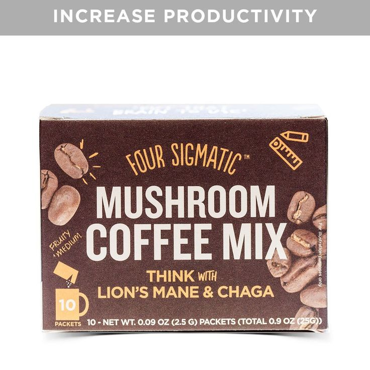 What does it do? No jitters, no crashes. What it is? With wild-harvested chaga and lion's mane fruiting bodies, this drink enhances coffee's brain-boosting effects. How many? 10 powder packets per box / 40 mg of caffeine per serving How powerful is it? 500 mg of dual-extracted mushrooms per serving. Can I have it? Vegan, Paleo friendly, sugar free, no fillers, non-GMO. How do I use it? Add one packet to 7 fluid oz. of hot water. Boost your brain, skip the jitters Want to amp up your prod...