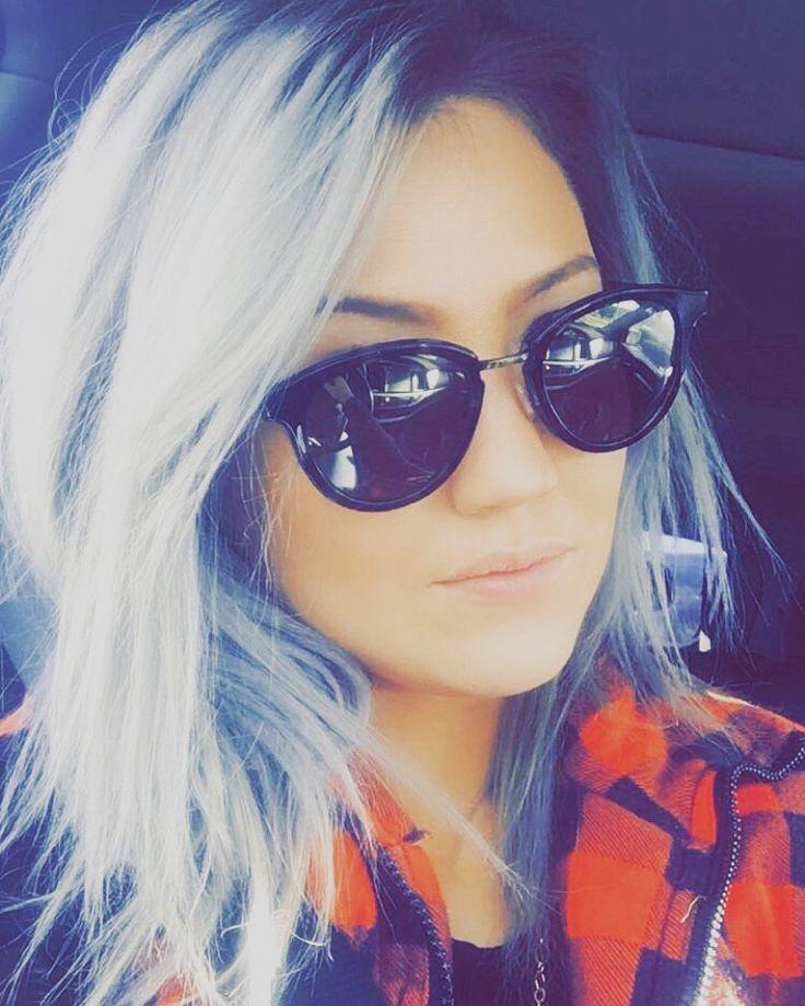 Grey hair  Silver hair done with Wella toner Maui jims  Hipster Fashion