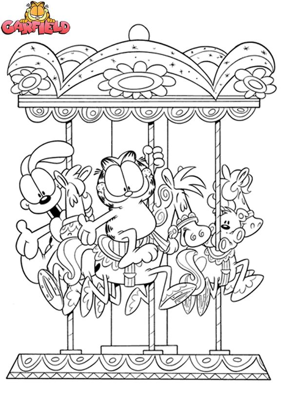 Garfield Odie Coloring Pages Colouring Adult Detailed Advanced Printable Kleuren Voor Volwassenen Coloriage Pour Adulte Anti