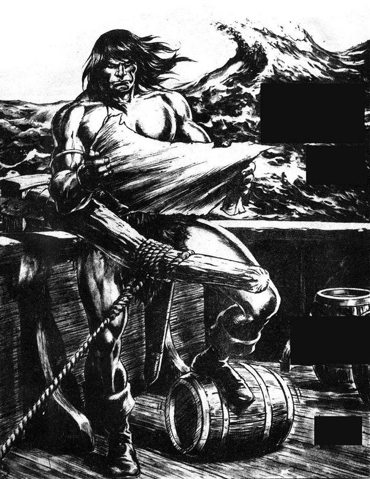 Pin De Annaele En A Arte De John Buscema Dibujos A Tinta Conan El Barbaro Dibujos
