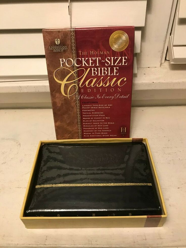 New 2004 Holman CSB Classic PocketSize Bible Black Glazed