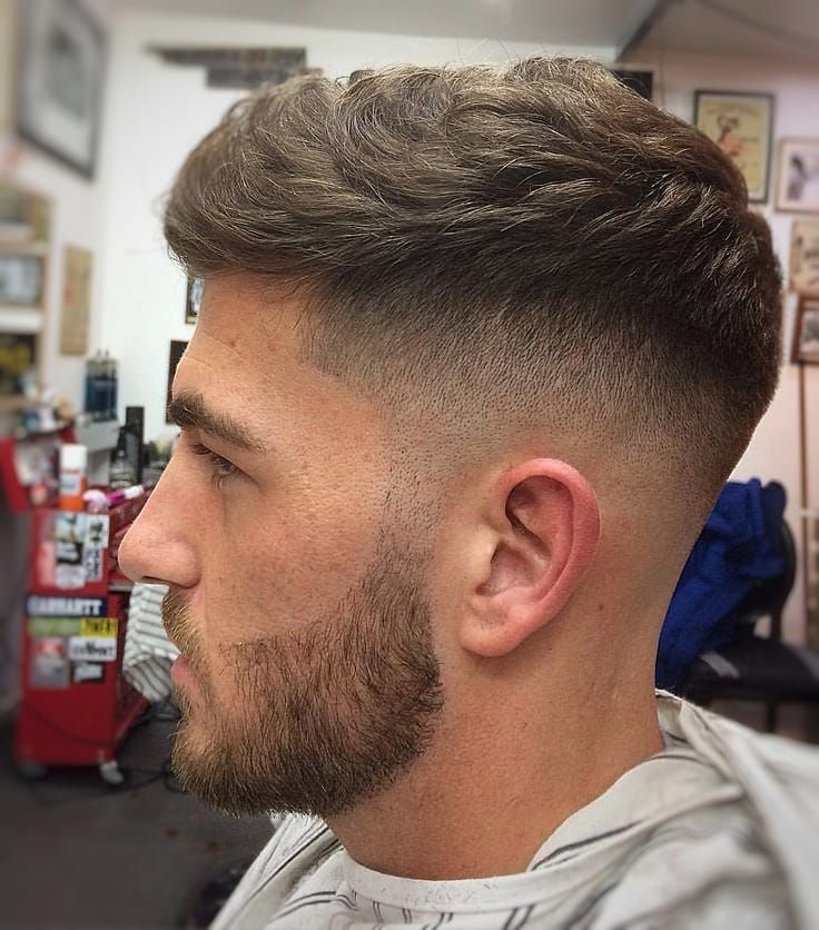 2020 Men S Trendy Hairstyle Fashion Slight Wave Men S Hairstyle Mens Haircuts Short Wavy Hair Men Mens Haircuts Fade
