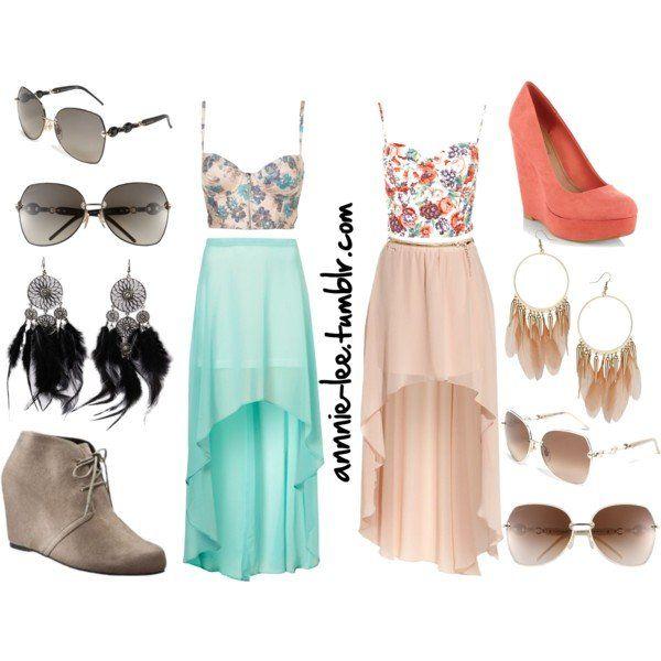 Feminine Long Skirt Outfit Ideas for Summer