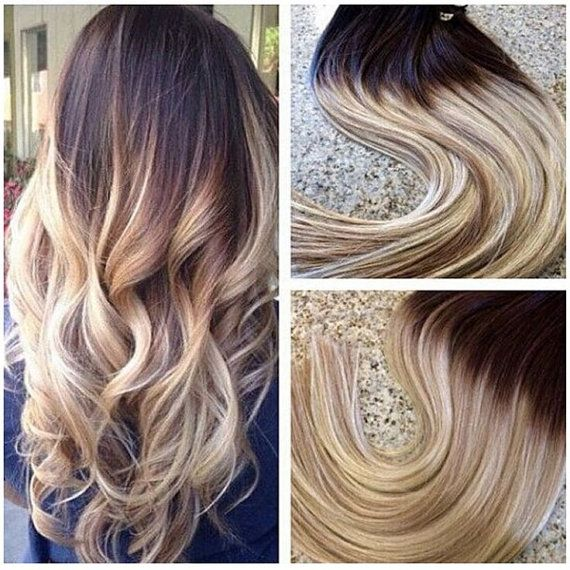 Best 25 hair extensions prices ideas on pinterest price made to order gorgeous soft thick 6a grade 7 clips ombre t 613 blonde virgin brazilian straight 100 real human clip in hair extensions pmusecretfo Image collections