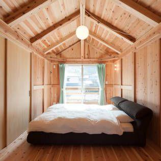木の暖かみを満喫できるベッドルームです。