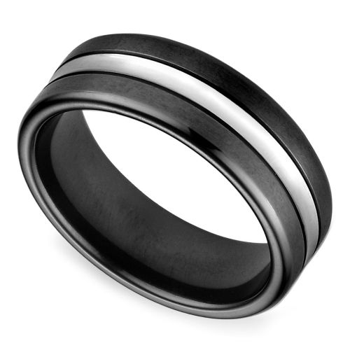 black satin mens wedding ring in cobalt httpswwwbrilliance