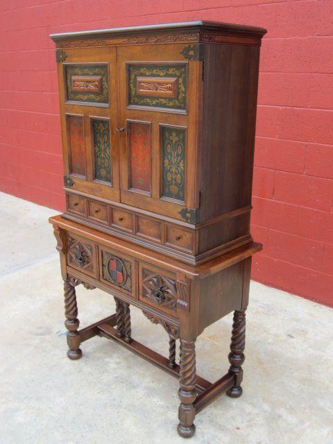 Antique China Cabinet Bar Cupboard Antique Berkey And Gay Furniture