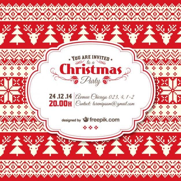 O modelo do convite do Natal do vintage
