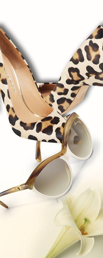 Kurt Geiger leopard print shoes and Louis Vuitton sunglasses