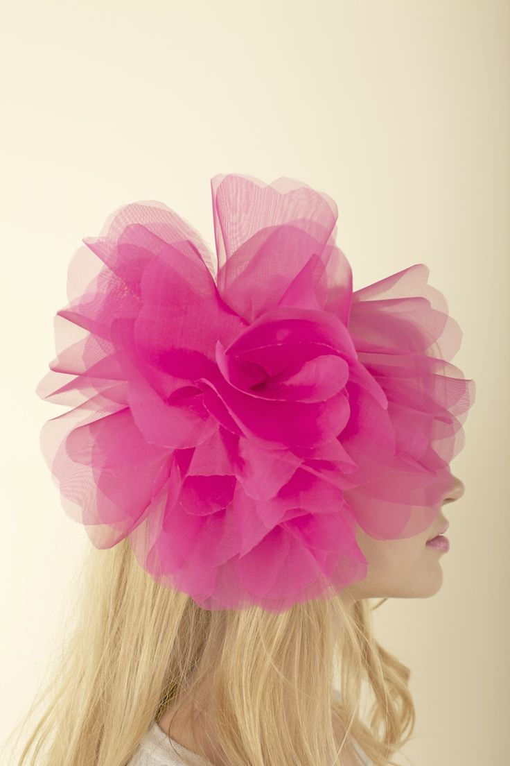 Color.Pink Pink Pink, Pink Flower, Hair Flower, Fashion Models, Hair Clips, Pink Hair, Hair Accessories, Pom Pom, Flower Hair