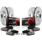 Cheap Power Stop K840 Front and Rear Ceramic Brake Pad and Cross Drilled/Slotted…