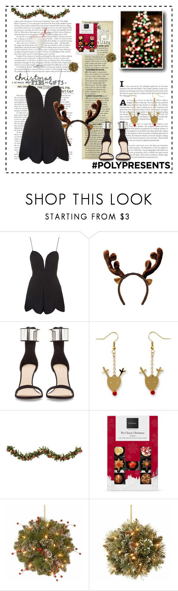 """""""Party dress♥.. #127"""" by rania-horan-stylinson-palik ❤ liked on Polyvore featuring Rare London, Zara, Improvements, National Tree Company, contestentry and polyPresents"""
