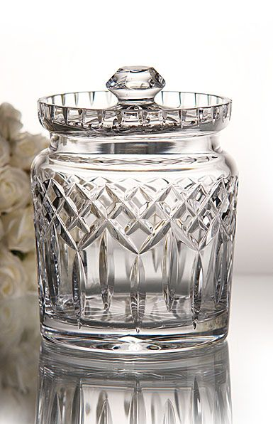 I have this barrel on my coffee table - Waterford Lismore Biscuit Barrel from Crystal Classics