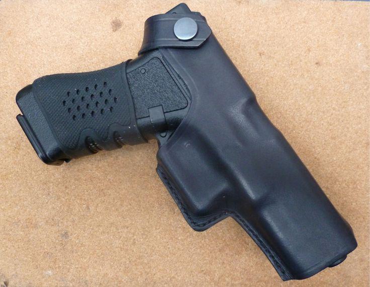Custom Glock leather OWB holster by makeitjones.co.uk