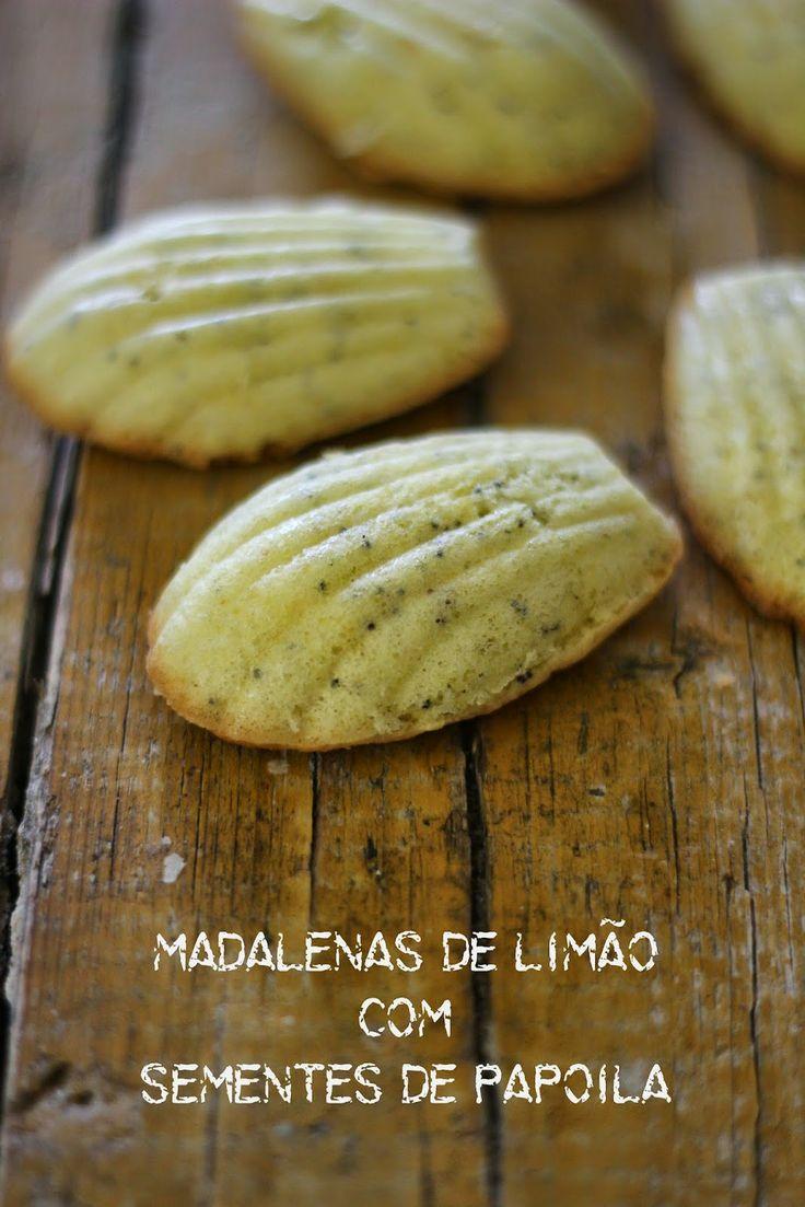 As Minhas Receitas: Madalenas de Limão com Sementes de Papoila
