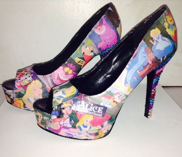 Custom made Alice in Wonderland shoes  by DesignsByFrenchie, $85.00