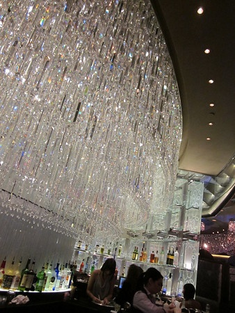 champagne bar @ the cosmopolitan - like being in a twinkly dream ...
