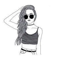 черно-белые картинки девушек для срисовки