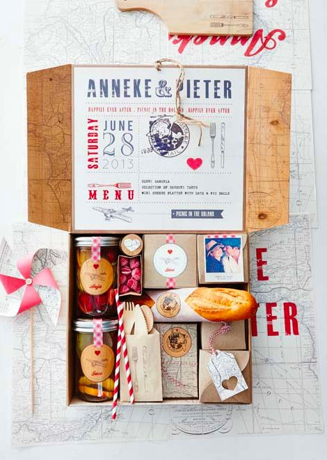 Wedding picnic basket