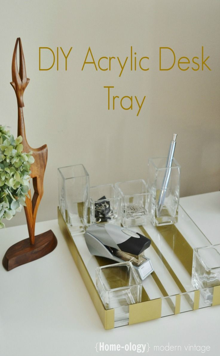 diy acrylic desk tray
