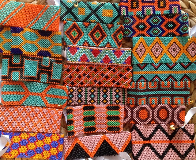 Traditional Kayapo Beaded Bracelets.  www.kayapoproject.org