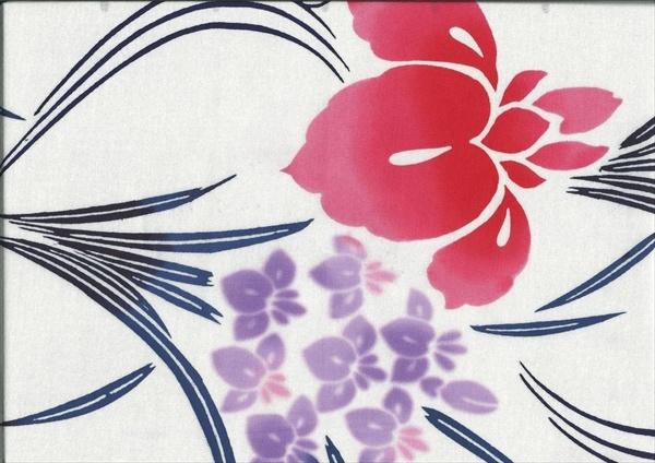 """Yukata """"Iris""""    www.kesarankimonofabric.com"""