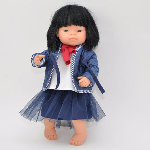 Set of doll clothes 16 inches doll 4 pieces set by Przytullale