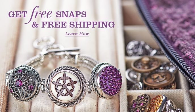 Ginger Snaps- love this jewelry....interchangeable snaps for necklaces, rings, & bracelet. Bought some for me and my girls.