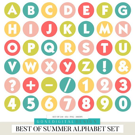 Summer Digital Alphabet Summer Alphabet Digital Letters Printable