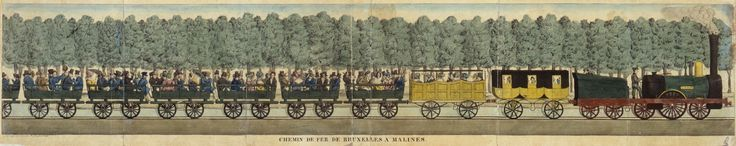 That day 900 guests travelled from Brussels-Allée Verte to Mechelen. The convoy consisted of three trains, each pulled by a fabulous new steam engine: La Flèche, the Stephenson and L'Eléphant. Passengers were seated in 30 carriages, adorned with the national tricolour flag. There were simple open and covered bench wagons. But some more luxurious carriages for the important guests.