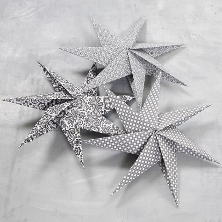 Seitsensakarainen tähti neliöpaperista | DIY guide
