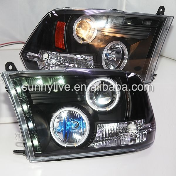 399.00$  Buy here - http://ali0u5.worldwells.pw/go.php?t=32341537530 - For Dodge Ram RAM PICK UP 1500  2500 3500 LED Headlight Angel Eyes 2009-2012 Year SN