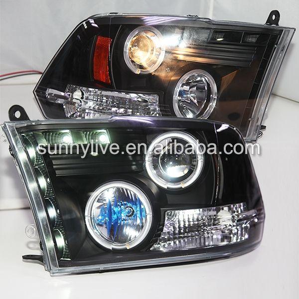 399.00$  Buy here - http://ali0u5.worldwells.pw/go.php?t=32341537530 - For Dodge Ram RAM PICK UP 1500  2500 3500 LED Headlight Angel Eyes 2009-2012 Year SN