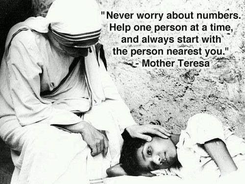 Mother Teresa - such a great role model for being a nurse! or wife or mother.