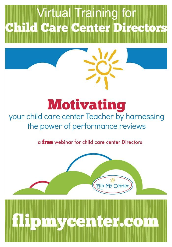 free child care center training to motivate teachers @performancereviews