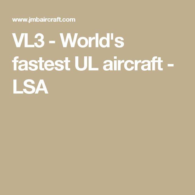 VL3 - World's fastest UL aircraft - LSA