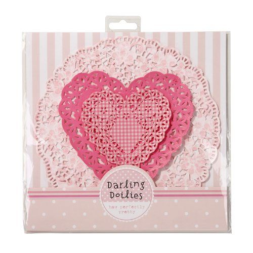 Doiles Paper Lace Crochet Look Doily Set Of 24 Three Assorted Styles Hearts And Florals, 2015 Amazon Top Rated Doilies #BISS