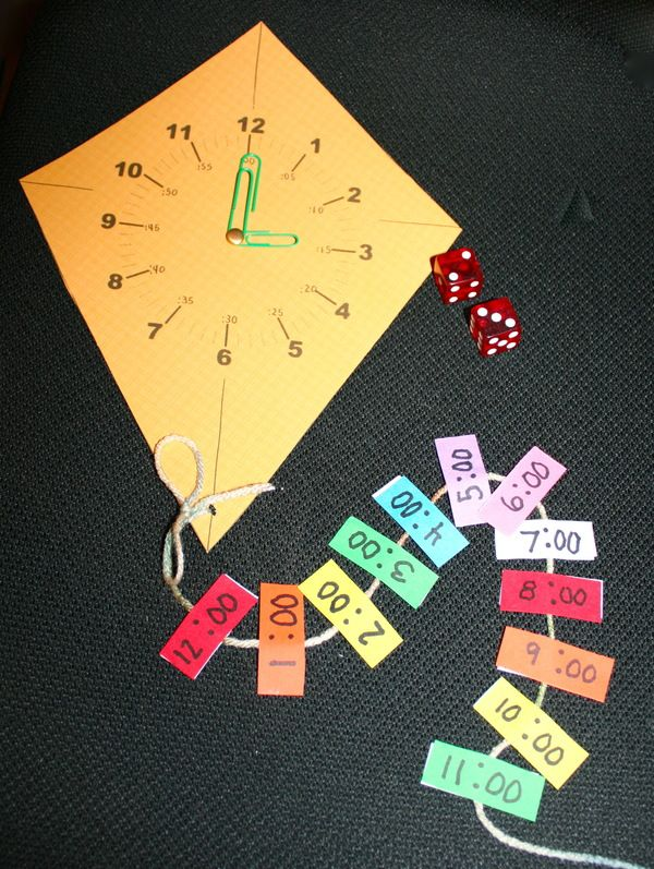 "Telling Time activities: FREE ""Time Flies"" Clock Packet. Includes clock craftivity & telling digital, plus analog time to the hour game."