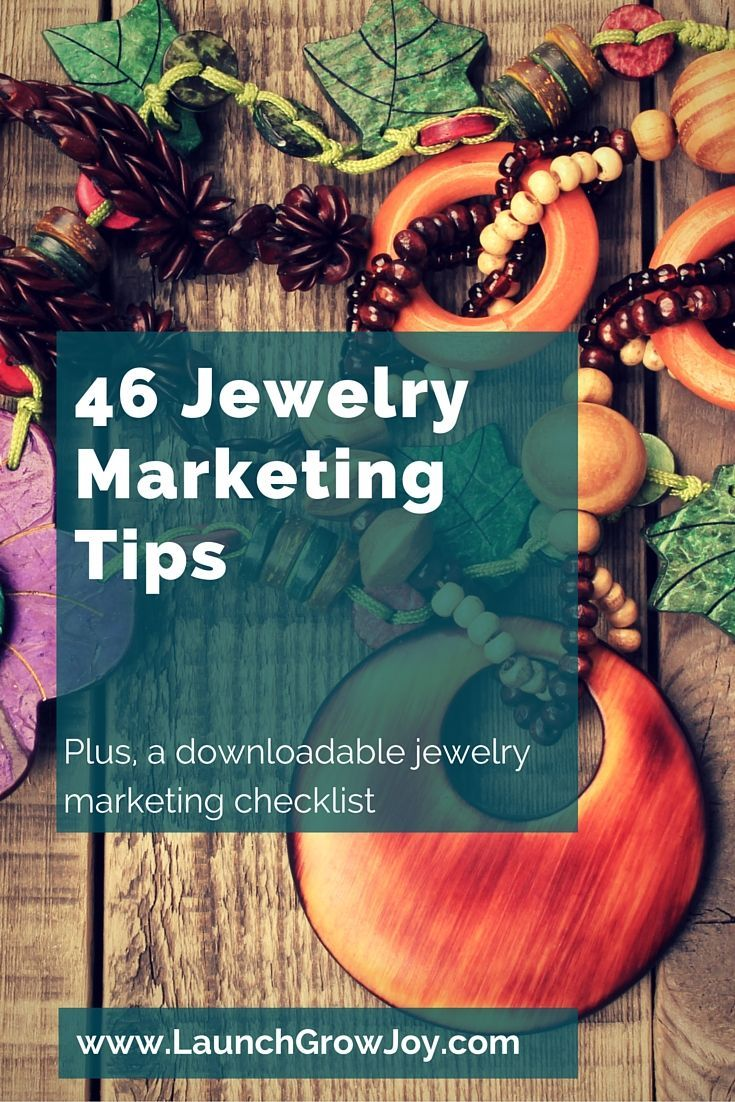 These 46 tips for jewelry marketing are super helpful to any current or aspiring jewelers!