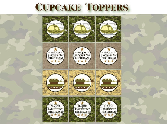 Camo Cake Toppers