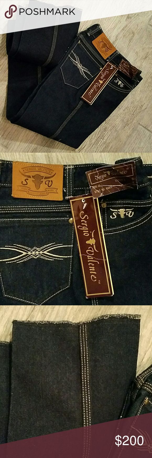 ORIGINAL VINTAGE SERGIO VALENTE JEANS SIZE 25 omg! THESE ARE ALL ORIGINAL SERGIO VALENTE JEANS WITH ORIGINAL TAGS STILL INTACT UNHEMMED LIKE THEY WERE ALWAYS SOLD! YOU WILL NEVER FIND THESE AGAIN! SIZE 25 LENGTH LONG INSEAM 36 INDIGO WASH PERFECT PERFECT PERFECT BROOKE SHIELDS CALLED AND SHE  WANTS HER JEANS BACK #THROWBACK #1970'S Sergio Valente Jeans Skinny