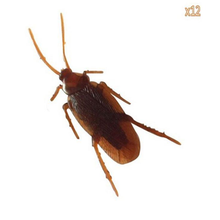 Leadingstar 12ピース偽のゴキブリ悪ふざけノベルティゴキブリはハロウィン小道具ギャグジョークノベルティおもちゃ子供のため