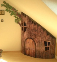 SO FUN!! A DIY built-in treehouse for kids!!