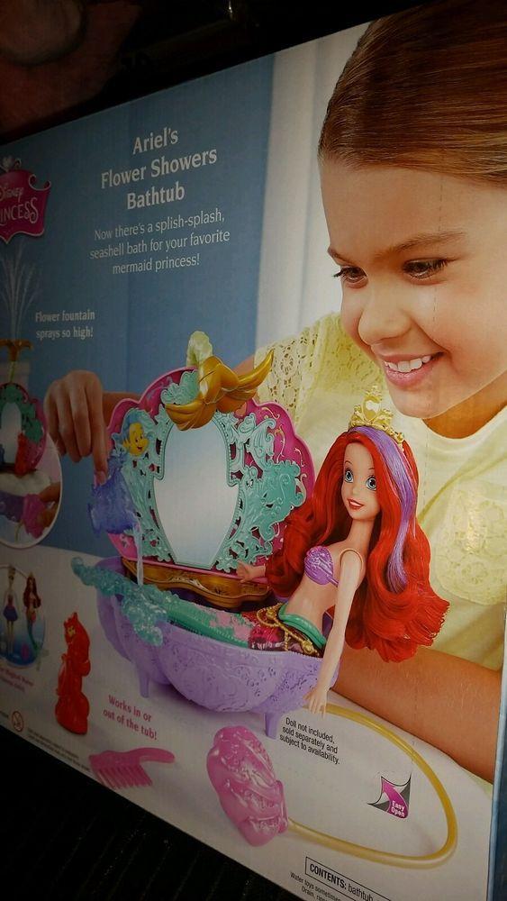 Disney Princess - The Little Mermaid - Ariels Flower Showers Bathtub - BRAND NEW