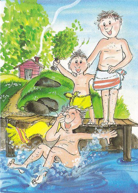 Hyvä vaari! (Fine Grandpa!) Virpi Pekkala... Into the water after Sauna
