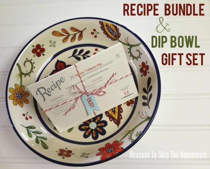 This sweet gift would work for any gift occasion, starting with a Mother's Day Gift. If mom lives near you and you're still trying to figure out the perfect gift for her – this dip bowl and recipe bundle is the perfect thoughtful gift! I found a bowl that was 50% off at Hobby Lobby….SCORE!…