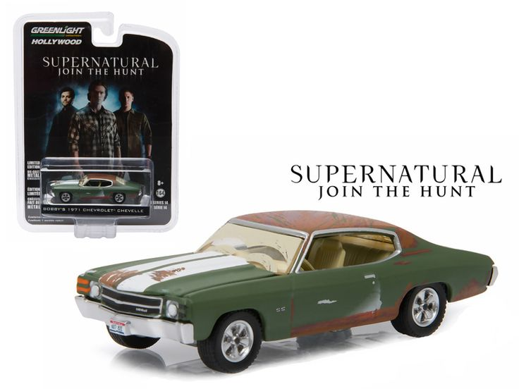 """Bobby's 1971 Chevrolet Chevelle SS Supernatural """"2005 Current TV Series"""" 1/64 Diecast Model Car by Greenlight - Brand new 1:64 scale car model of Bobby's 1971 Chevrolet Chevelle SS Supernatural """"2005 Current TV Series"""" die cast model car by Greenlight. Limited Edition. Has Rubber Tires. Comes in a blister pack. Detailed Interior, Exterior. Metal Body and Chassis. Officially Licensed Product. Dimensions Approximately L-2 1/2 Inches Long.-Weight: 1. Height: 5. Width: 9. Box Weight: 1. Box…"""