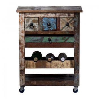 Drankkast sloophout Lavis Otar | wijnkast van gerecycled hout