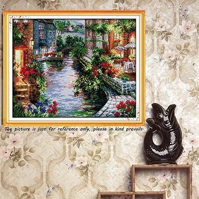 Dimensions Counted Cross Stitch Kit Embroidery Set 14CT Lakeside Houses 50*41cm