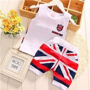 UK British Tank Top and Shorts Set